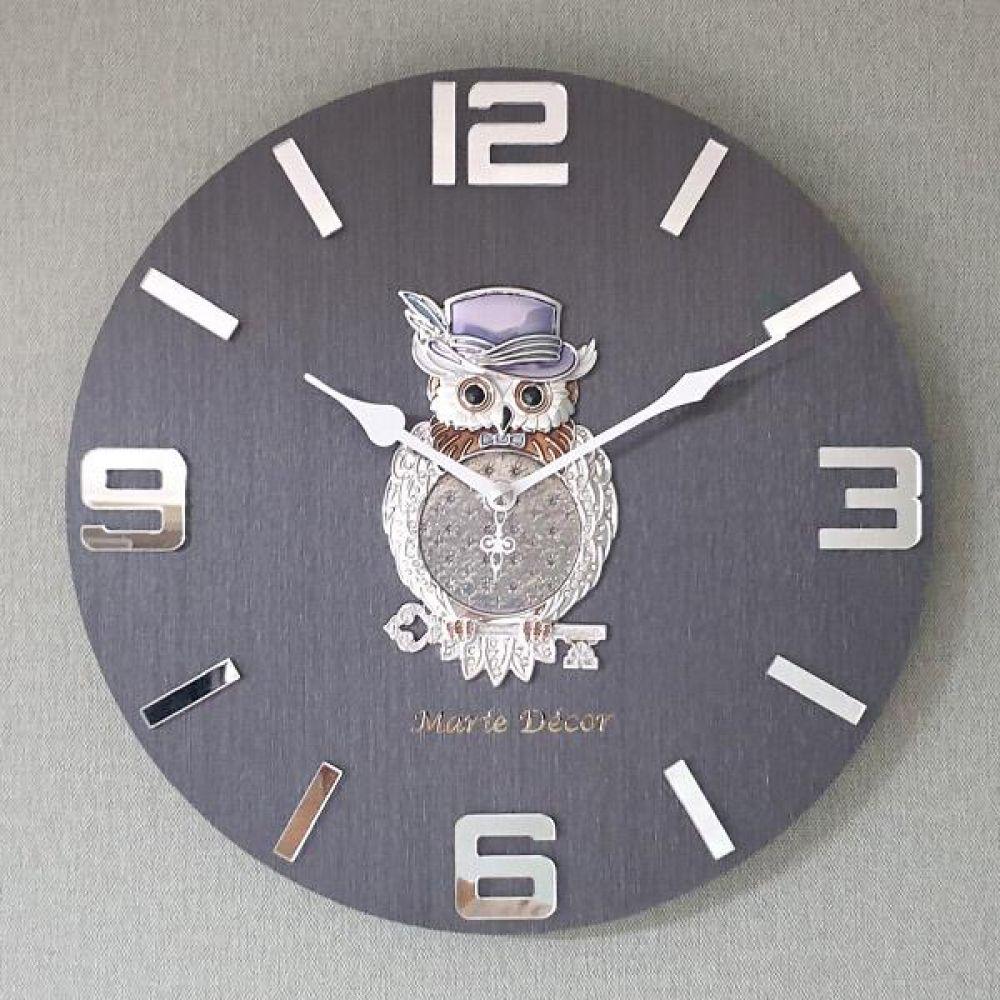 행운열쇠 부엉이 무소음 오픈 벽시계 벽시계 벽걸이시계 인테리어벽시계 예쁜벽시계 인테리어소품