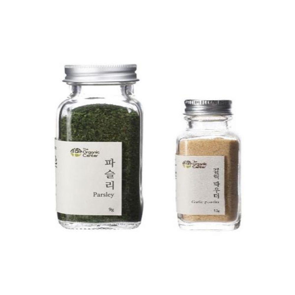 (오가닉 향신료 모음)건파슬리 30g과 갈릭 파우더 35g 건강 견과 조미료 냄새 야채