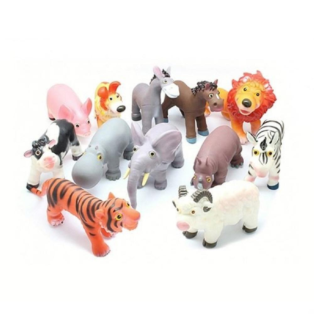 어린이날 어린이집 놀이 교구 소프트 동물 12종세트 완구 어린이집 유아원 초등학교 장난감