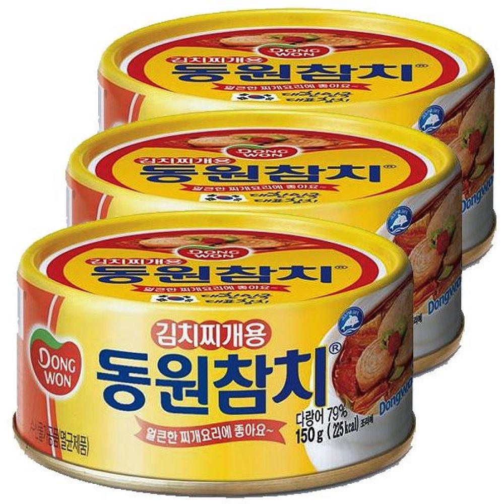 동원)김치찌개용 참치 150g x 12개 고단백 영양식품 오메가3 반찬 깡통 통조림 간편 투나
