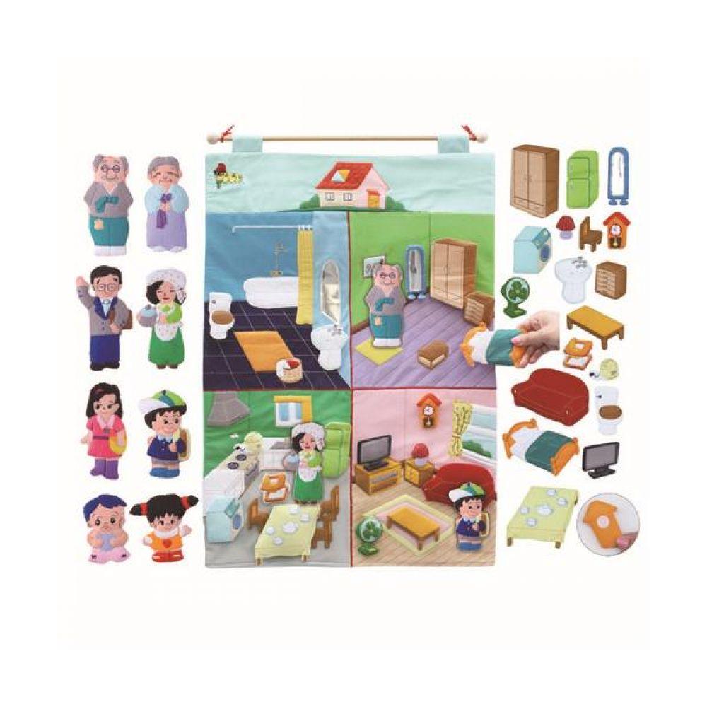 매직교구 우리집 탈부착 차트 완구 문구 장난감 어린이 캐릭터 학습 교구 교보재 인형 선물