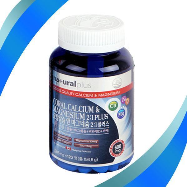 몽동닷컴 내츄럴플러스 코랄칼슘 앤 마그네슘 120정 비타민 영양제 건강식품 기능식품 칼슘 마그네슘