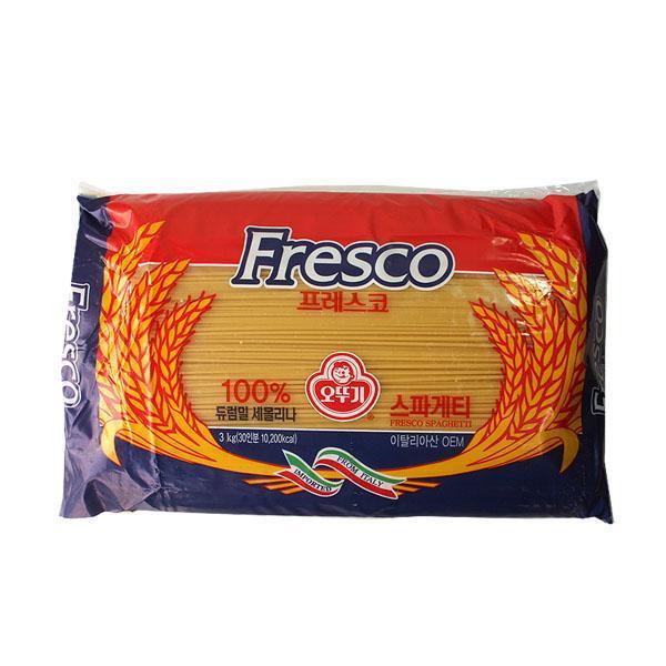 프레스코 스파게티면3kgX4개(1박스) 스파게티 프레스코 파스타 파스타면 식자재