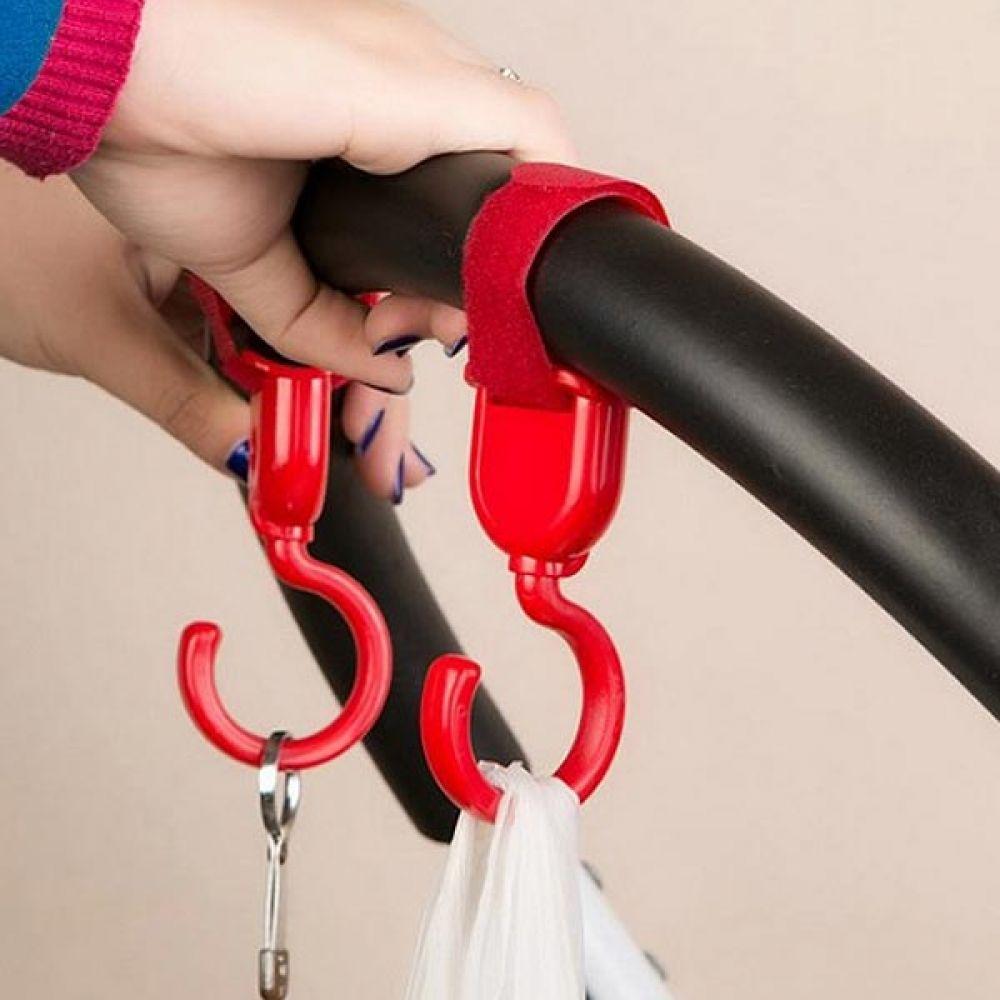 다용도 유모차걸이 고리 2p 색상랜덤 유모차용품 유모차수납 유모차용품 유모차걸이 유모차정리 걸이