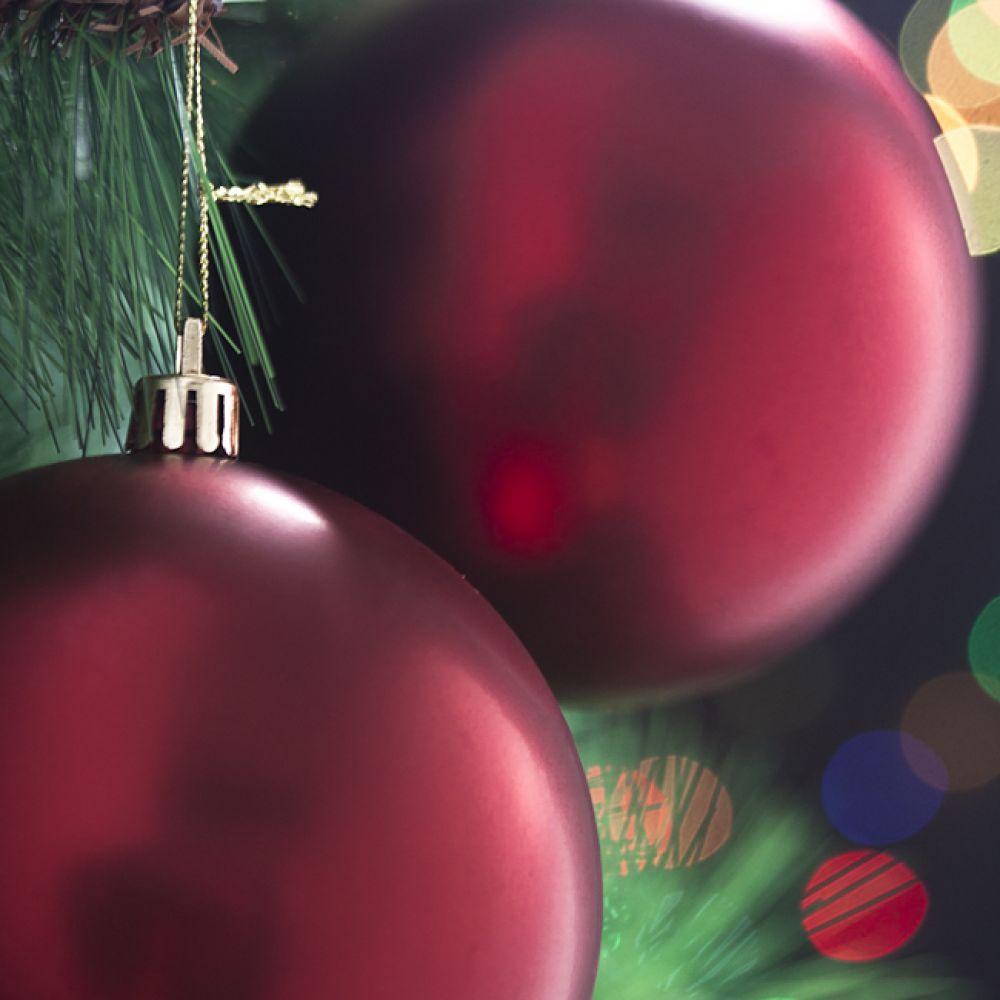 MWSHOP 2p 레드 무광볼 10cm 크리스마스 트리크리스마스 엠더블유샵