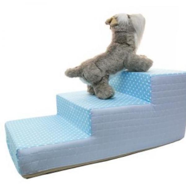 두기펫 줄리 도트 3단스텝 - 블루 애완용품