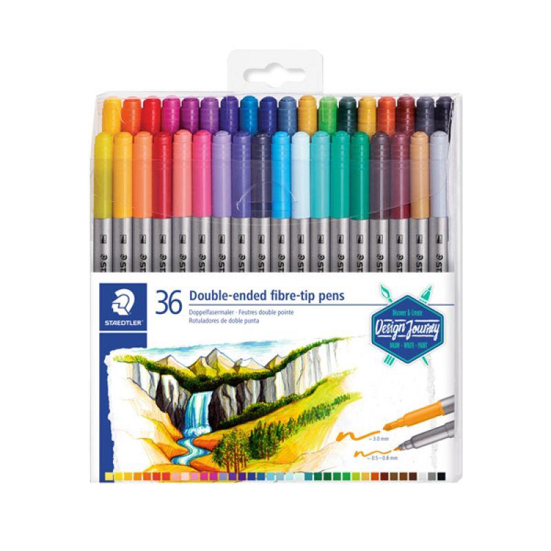 스테들러 그래픽 더블 팁마카 36색세트 3200TB36 스케치 드로잉