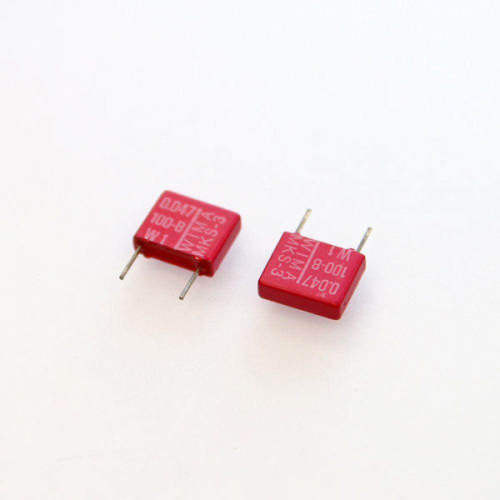 독일 위마 콘덴서 필름 캐패시터 100V 0.047uF  2개씩 5묶음 콘덴서 오디오 캐패시티 audio 위마 WIMA 독일