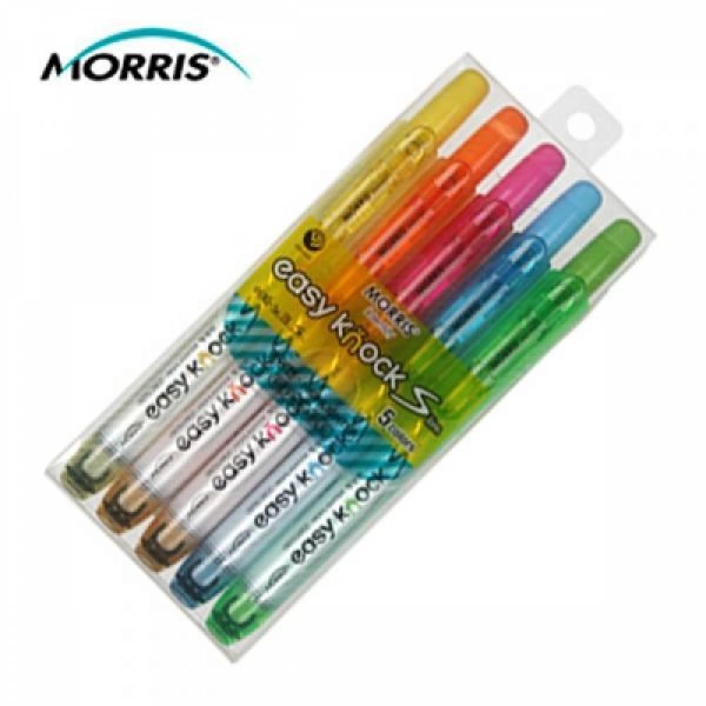 MWSHOP 모리스 이지노크S MRH-105-5S 5색 형광펜 세트  엠더블유샵