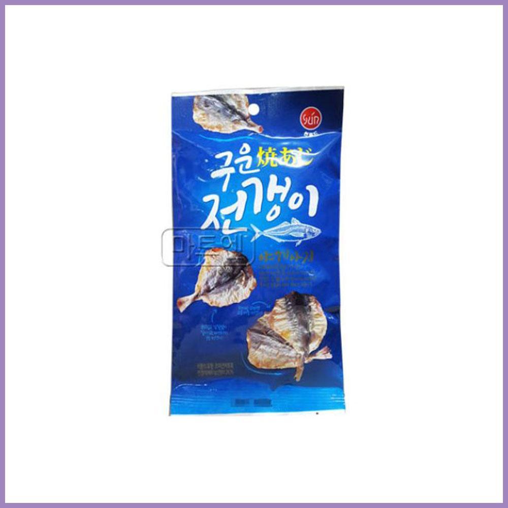 썬푸드)구운전갱이 25g x 10개 과자 스낵 군것질 박스단위 도매