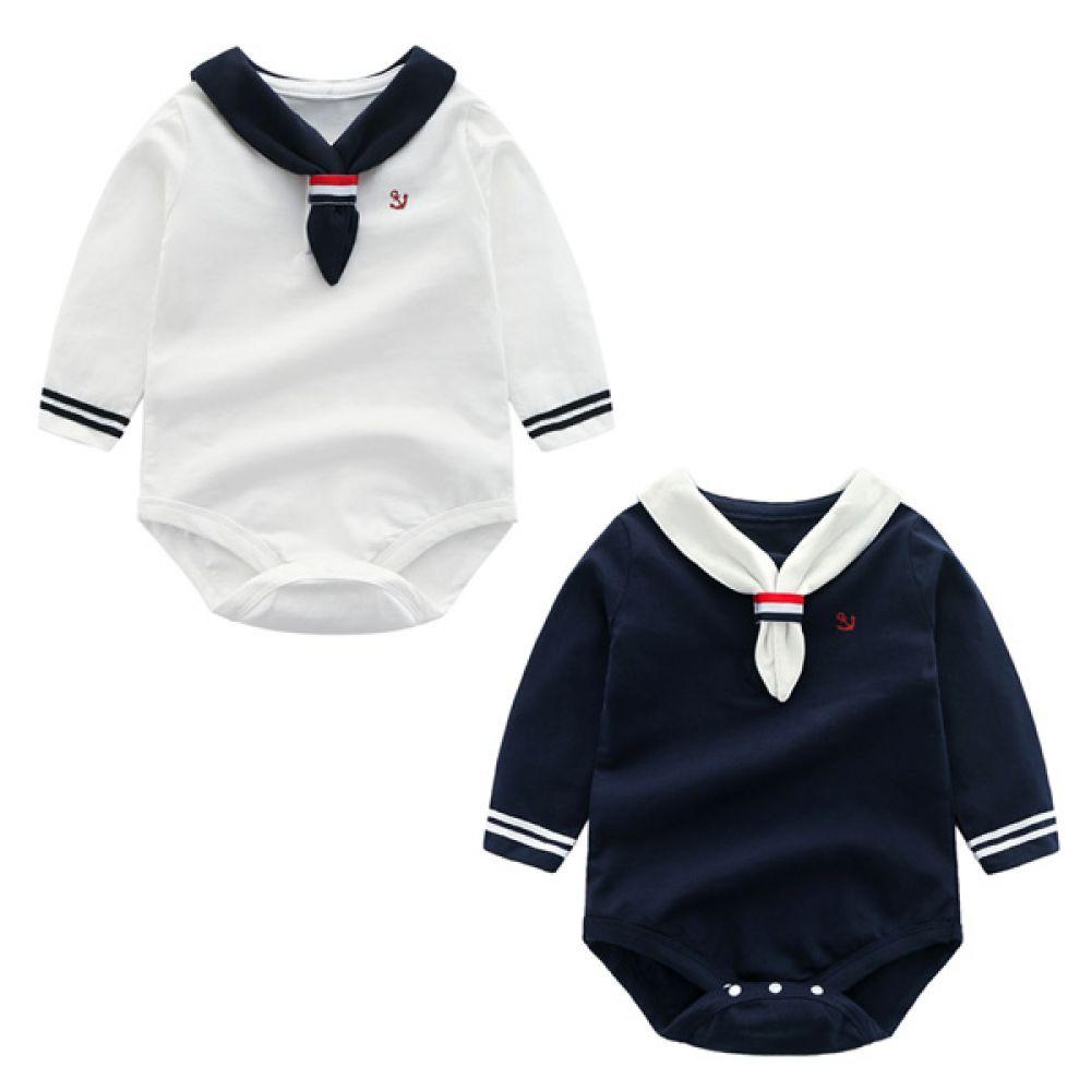 마린 타이 바디슈트(0-18개월) 203627 우주복 아기옷 유아옷 바디슈트 신생아옷 롬퍼 마린바디슈트 마린우주복 아기실내복 유아실내복