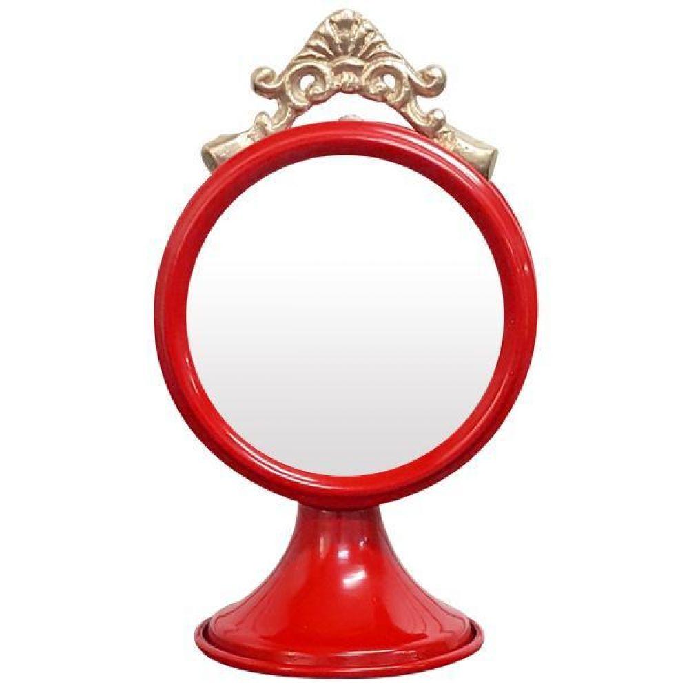 IG7360 장식용 탁상 거울 레드 제조한국 탁상거울 인테리어탁상거울 메탈탁상거울 모던탁상거울 주석탁상거울
