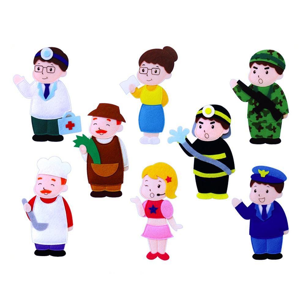 완구 어린이 유아 찍찍이 교육 교구 모형 직업a 8종 2살장난감 3살장난감 4살장난감 아이놀이 어린이선물