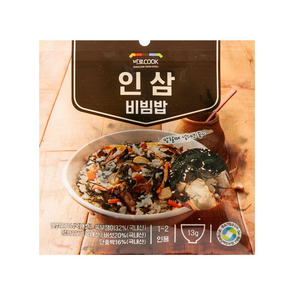 인삼 비빔밥 13g(1-2인용) 나물 건강 식품 밥 야채