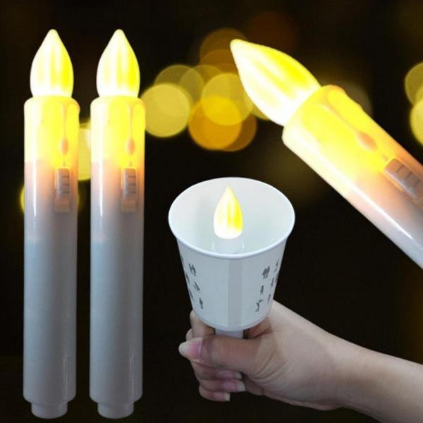 꺼지지않는 LED전자촛불 10개 LED초불 촛불 전자초불 전자양초 일회용촛불