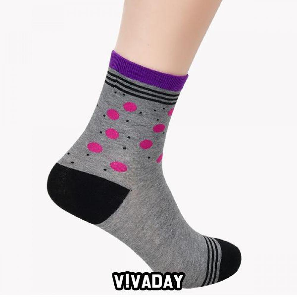 VIVADAY-YS57 양말세트 도트라인 5켤레혼합 양말 양말선물 양말선물세트 선물 명절선물 지인선물 신사양말 숙녀양말 여성양말 남성양말