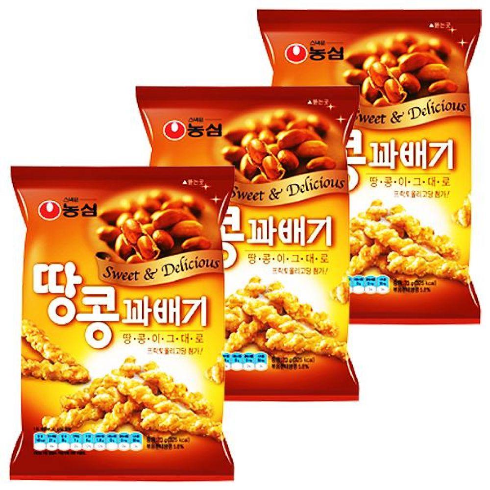 농심) 땅콩꽈배기 84gx15개 국내산 아카시아꿀 과자 스낵 간식 대량도매 도매
