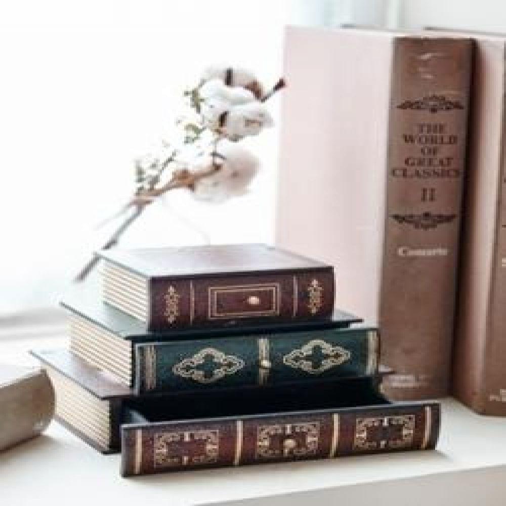 책서랍 3단-노트 미니서랍함 보관소품 인테리어소품 장식소품 인테리어장식품