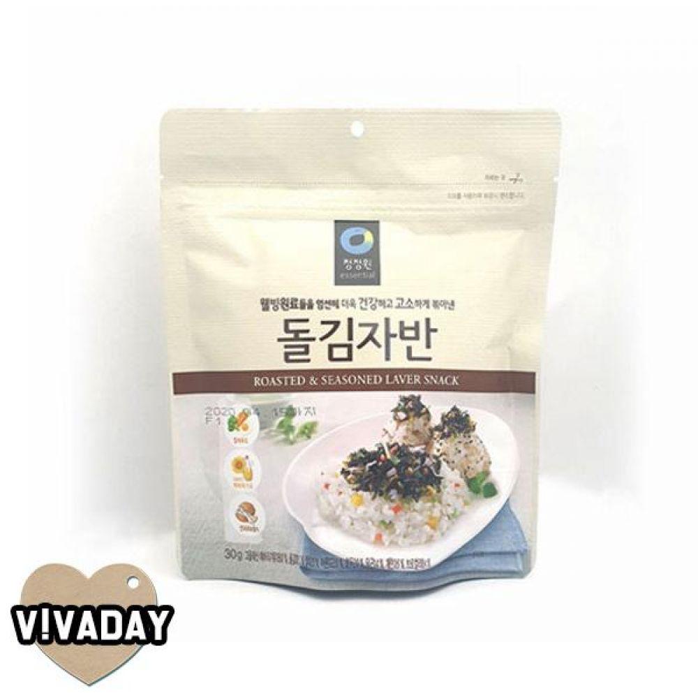 MY 청정원 돌김자반60g 3분요리 간편식품 즉석식품 자취생 올리브유재래김 김 김반찬
