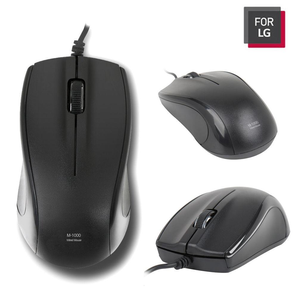 FOR LG 유선마우스 (LGC-M1000) (블랙) 유선 마우스 컴퓨터 PC 노트북