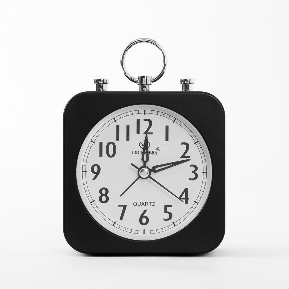 알람시계 무소음 사각 블랙 탁상시계 무소음시계 알람시계 무소음시계 인테리어시계 탁상시계 생활용품