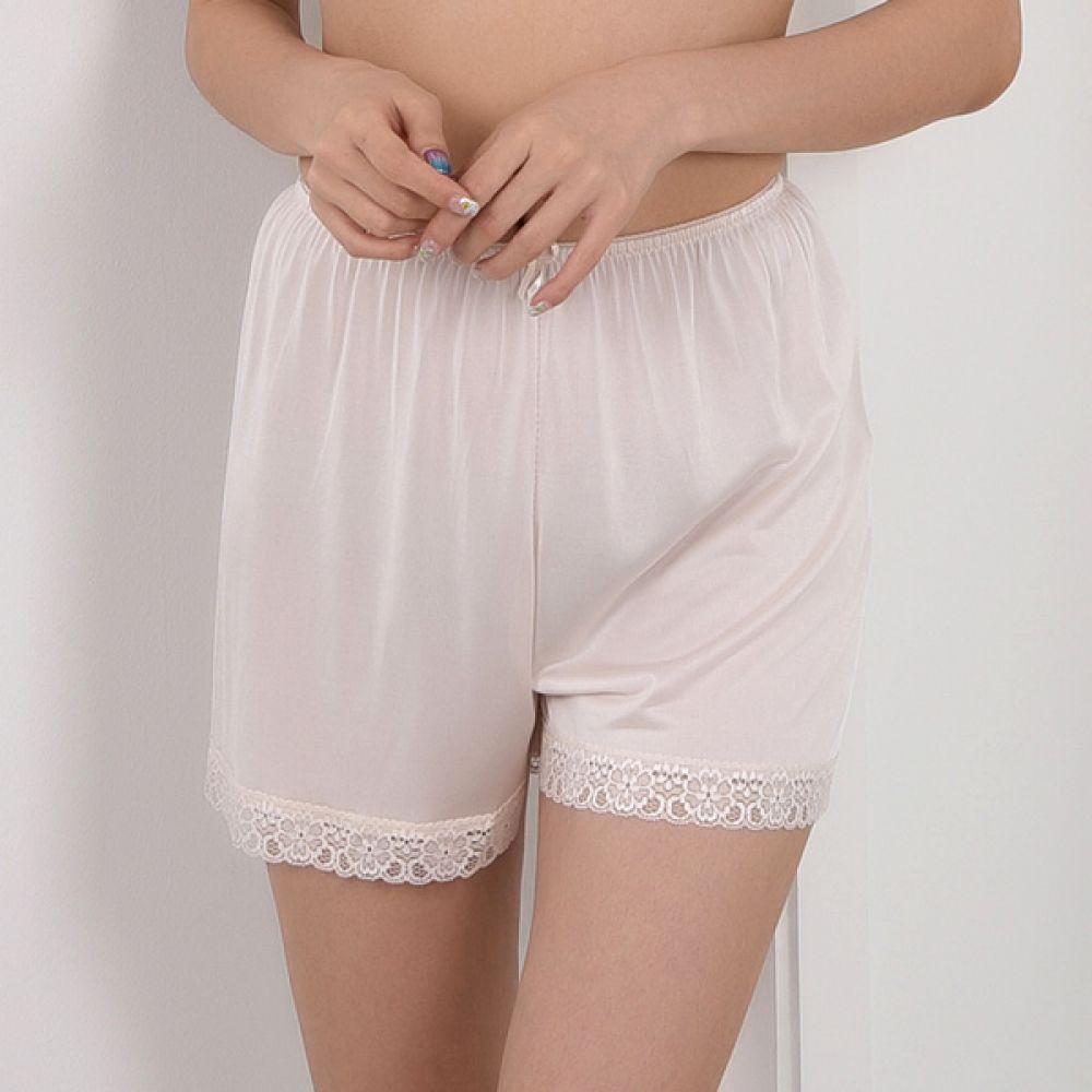 (뵈뵈)(SL713)시원한 쿨 인견 레이스 속바지 슬립 속바지 여성속바지 인견속바지 속바지슬립 여성속옷