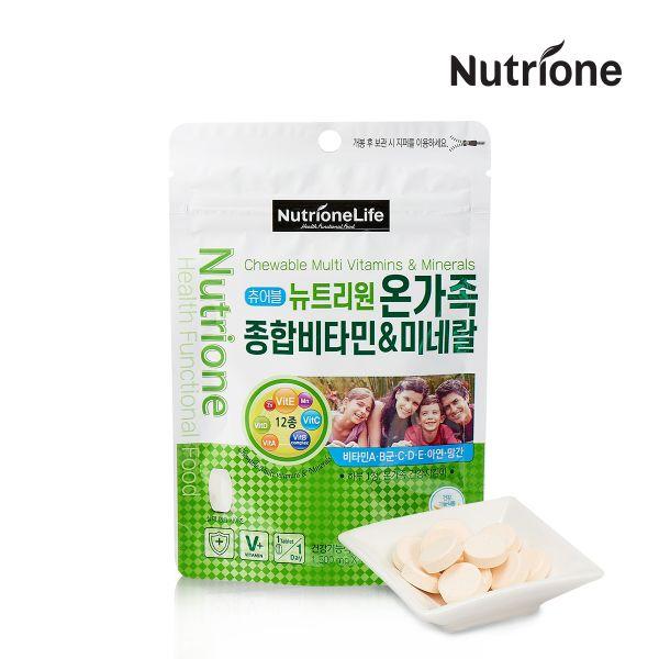 온가족 종합비타민 미네랄 14일분 14정 118481 식품 건강식품 비타민제 멀티비타민 종합비타민