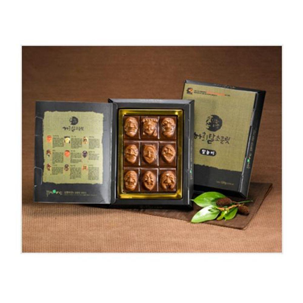 하회탈 수제초콜렛 탈놀이 상황버섯 추출물과 초콜렛의 환상적인 조합 건강 식품 버섯 선물 초콜릿