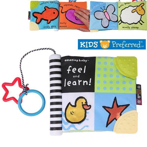 Kids Preferred 촉감 헝겊책 (K496476117) (0세 이상) (영유아 놀이) 촉감 헝겊책 유아완구 유아놀이 장난감