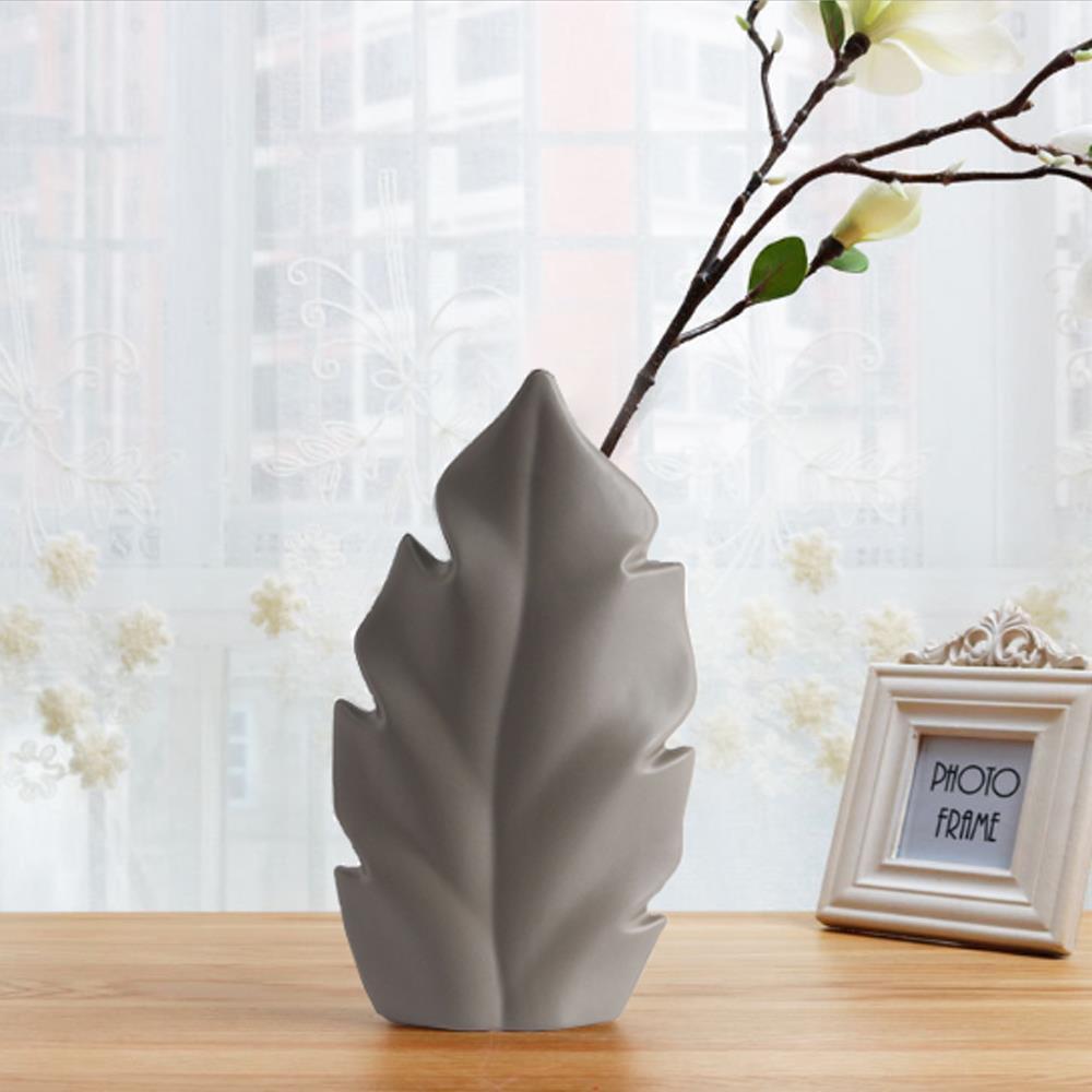 도자기 인테리어꽃병 잎사귀 화병 인테리어소품 조각품 도자기 인테리어소품 인테리어장식품 꽃병