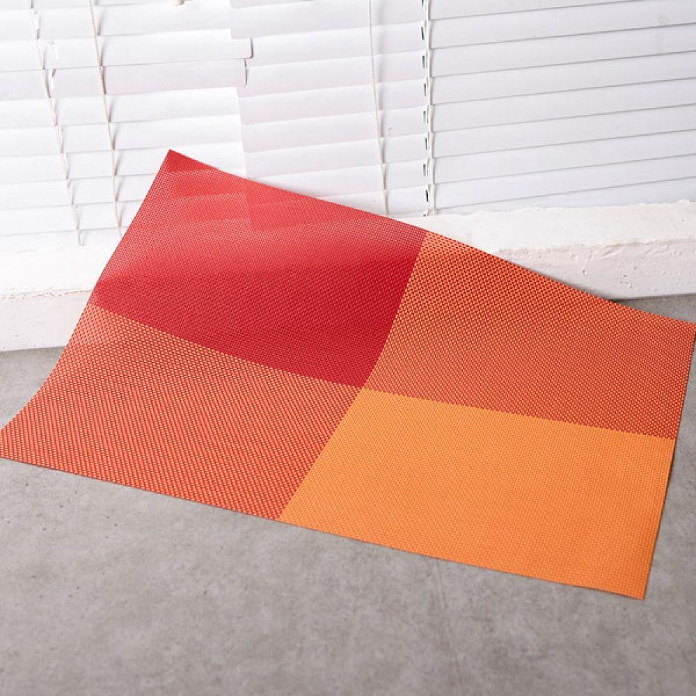 고방 체크 식탁매트 오렌지 테이블매트 테이블웨어 식탁매트 주방용품식탁 테이블매트 테이블웨어