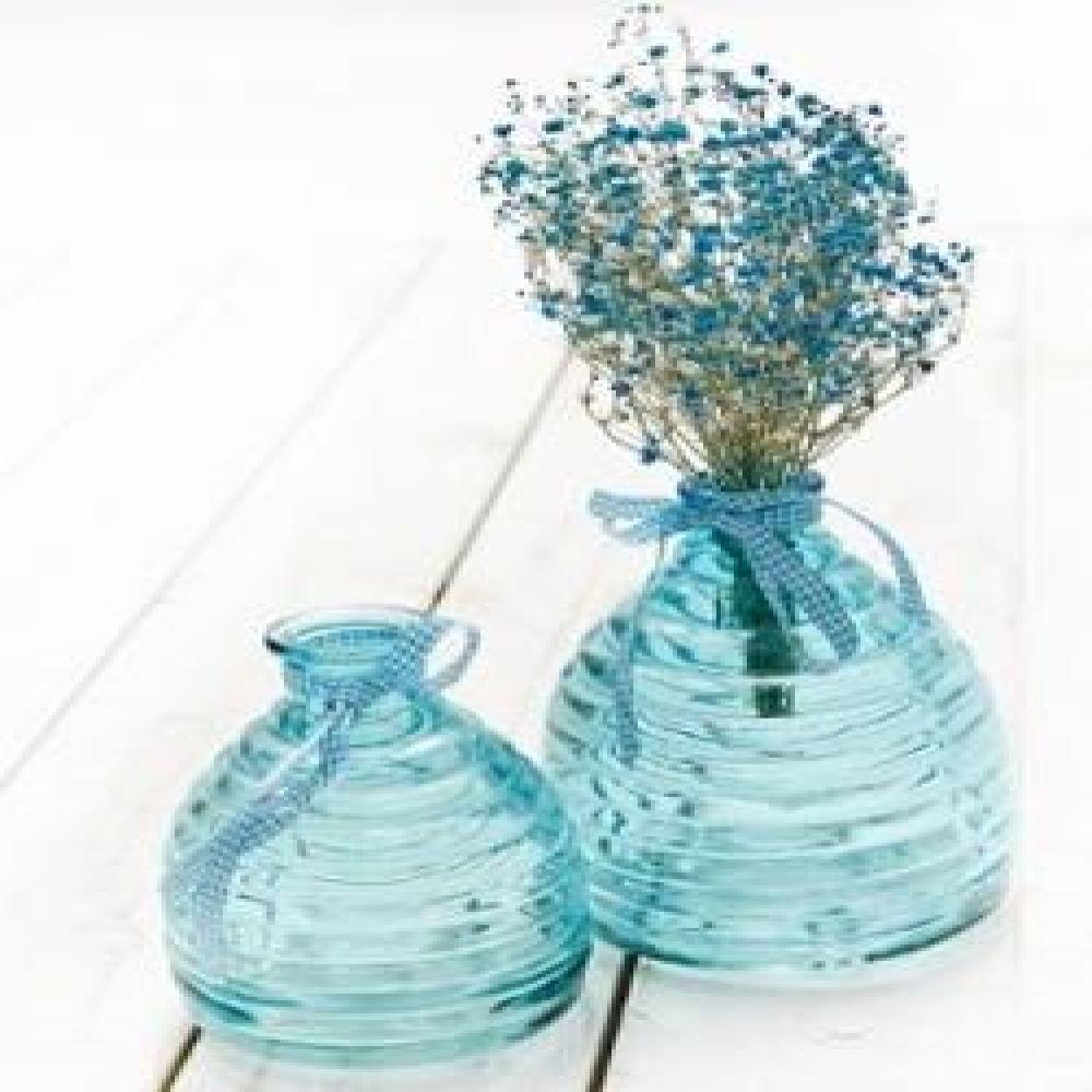 빈티지 블루유리화병 2p set (L) 유리꽃병 빈티지꽃병 빈티지소품 장식소품 인테리어소품