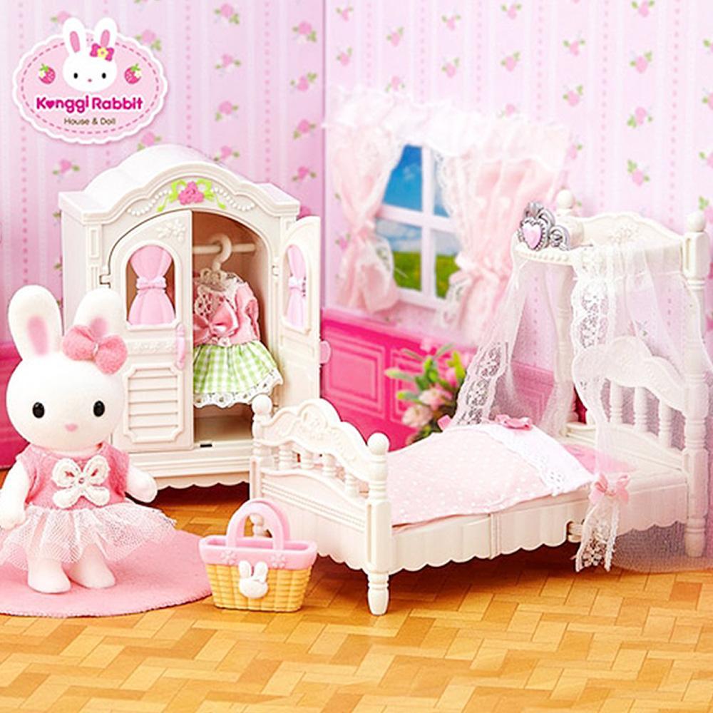 선물 소꿉 놀이 콩지 래빗 로맨틱 침실 어린이날 완구 어린이집 유아원 초등학교 장난감