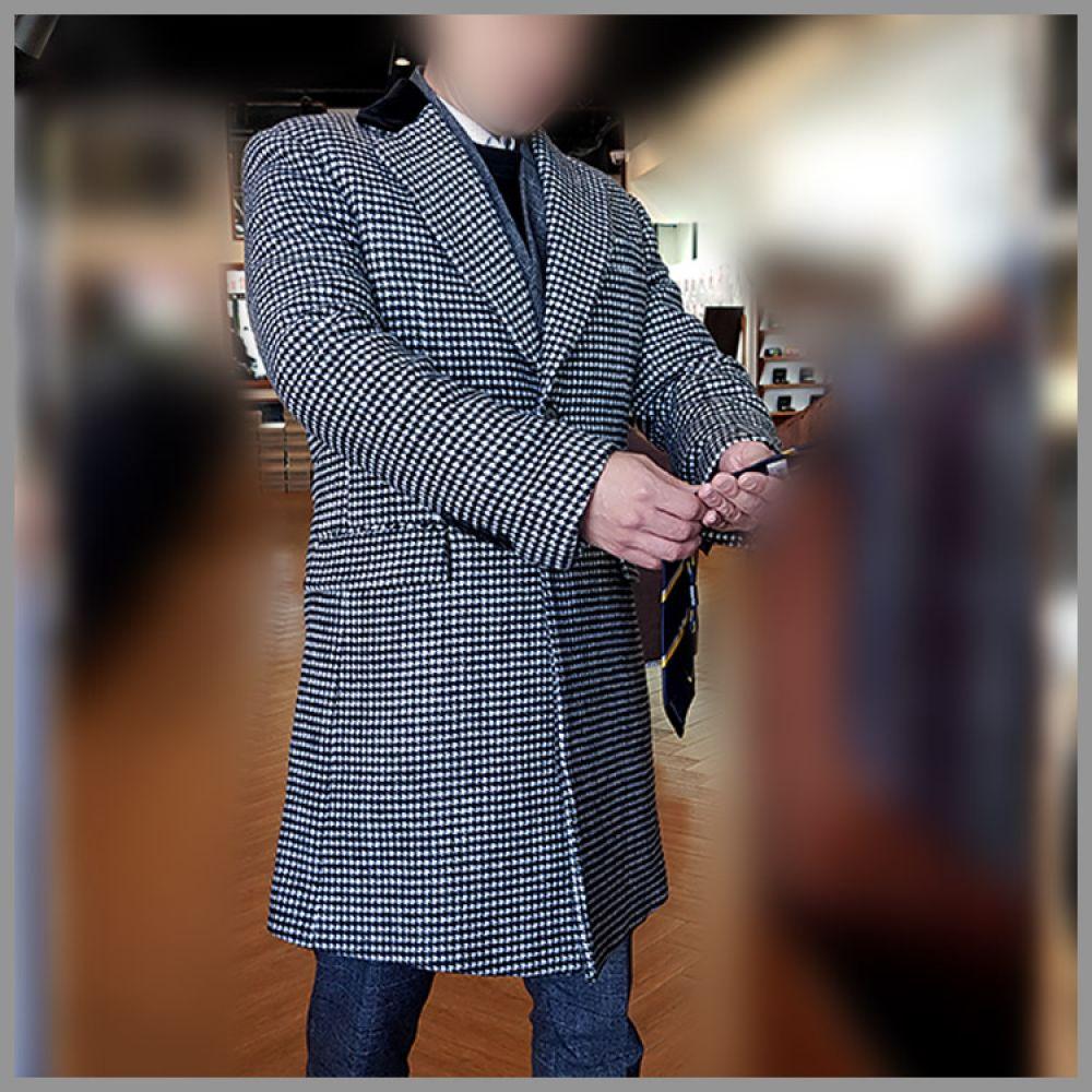 젠틀안트 블랙 별 카라배색 싱글코트 GR-C2060 코트 트렌치코트 울코트 정장코트 양복코트 싱글코트