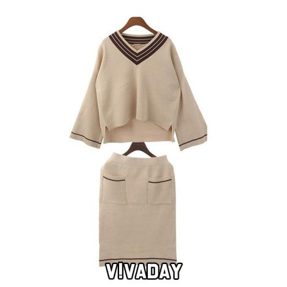 DO-RB98 브이니트 치마 스커트 청스커트 치마 여성치마 여성옷 여자옷 빅사이즈 오버사이즈
