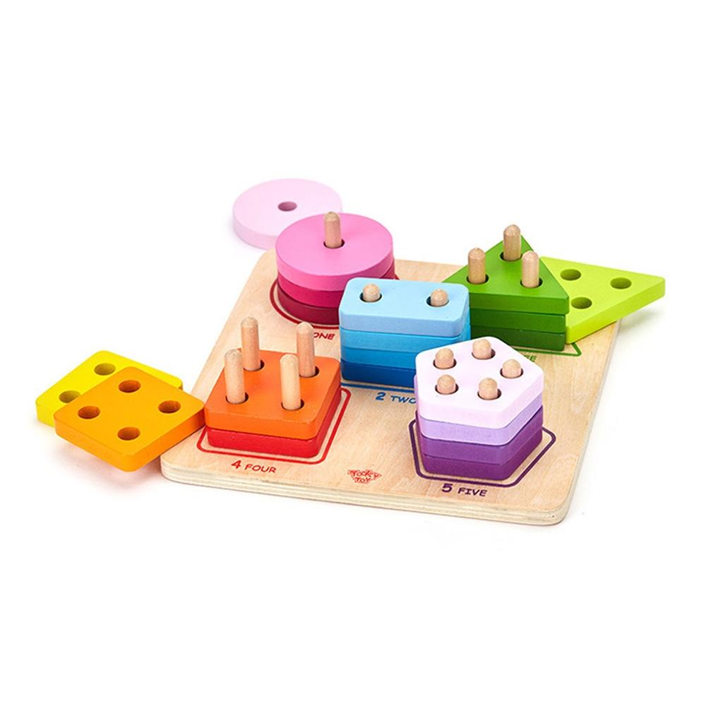 장난감 유아 학습 아동 놀이 모양 막대 쌓기 아이 퍼즐 블록 블럭 장난감 유아블럭