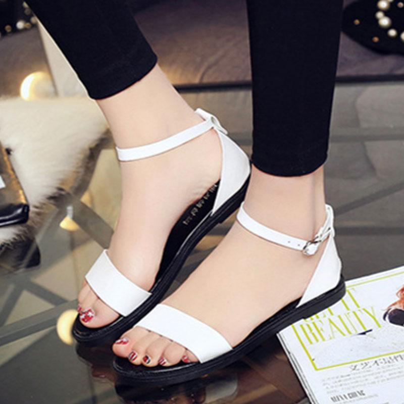 여성 심플 스트랩 샌들 화이트 wd05285 여자신발 여성신발 패션화 패션신발 샌들