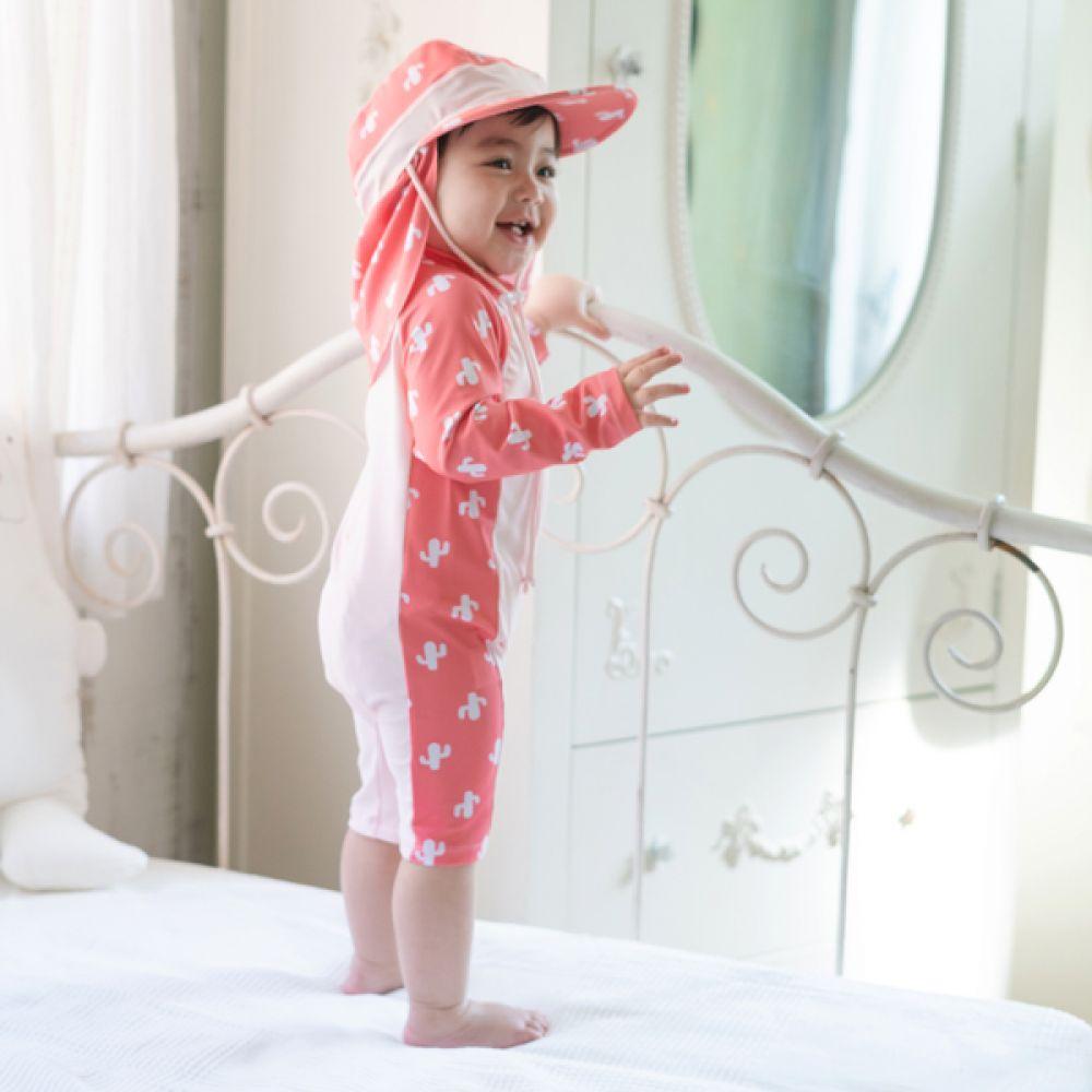 선인장 유아 래쉬가드(1-6세) 203814 아기래쉬가드 유아래쉬가드 자외선차단래쉬가드 신생아래쉬가드 래쉬가드