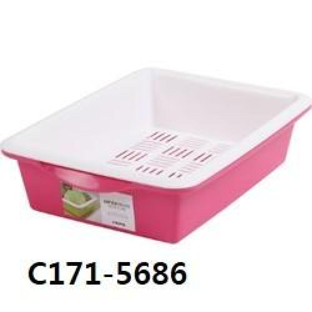 창신 센스큰채반핑크 C171-5686 주방용품 주방 생활용품 채반 큰채반