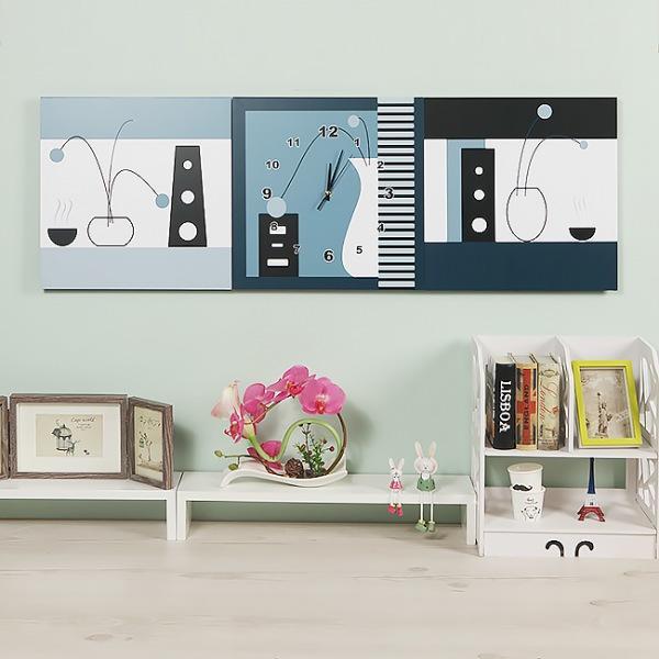 JHC컴퍼니 흑백 정물 병풍 벽시계(120cm) 벽시계 탁상시계 시계 클래식시계 엔틱벽시계