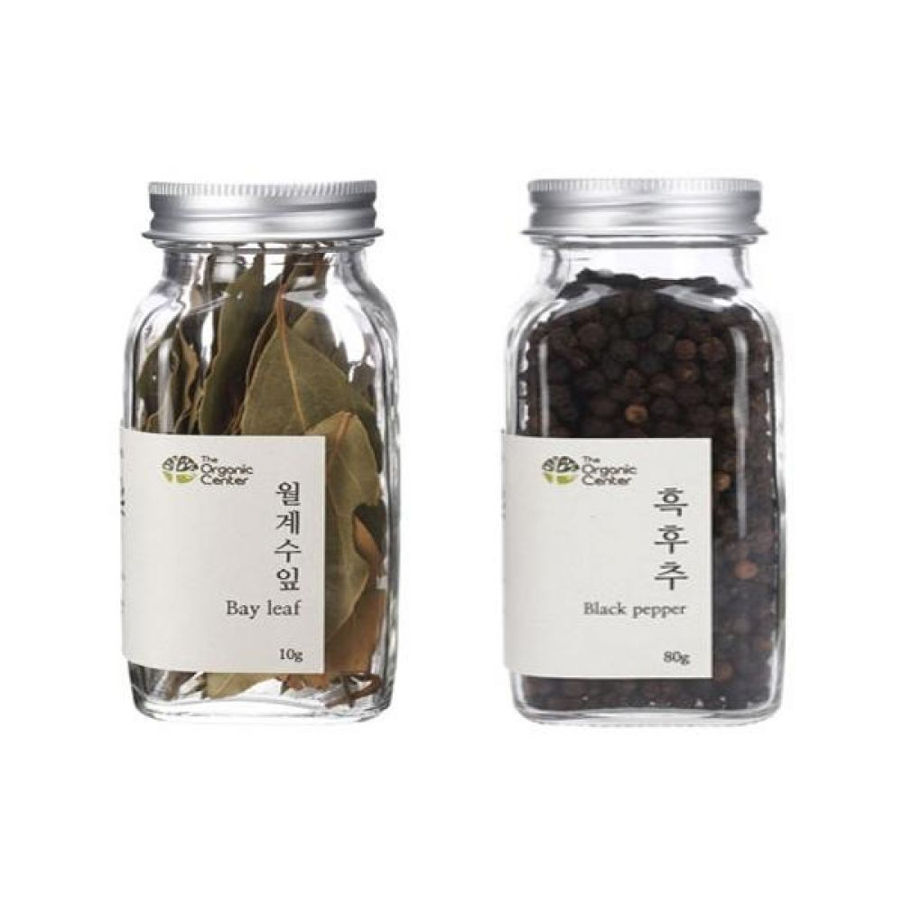 (오가닉 향신료 모음)월계수잎 10g과 통 흑후추 80g 건강 견과 조미료 냄새 고기