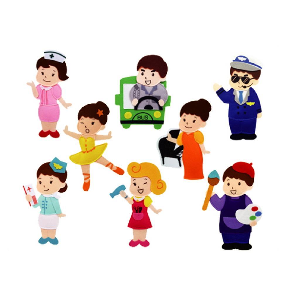 완구 어린이 유아 찍찍이 교육 교구 모형 직업c 8종 2살장난감 3살장난감 4살장난감 아이놀이 어린이선물