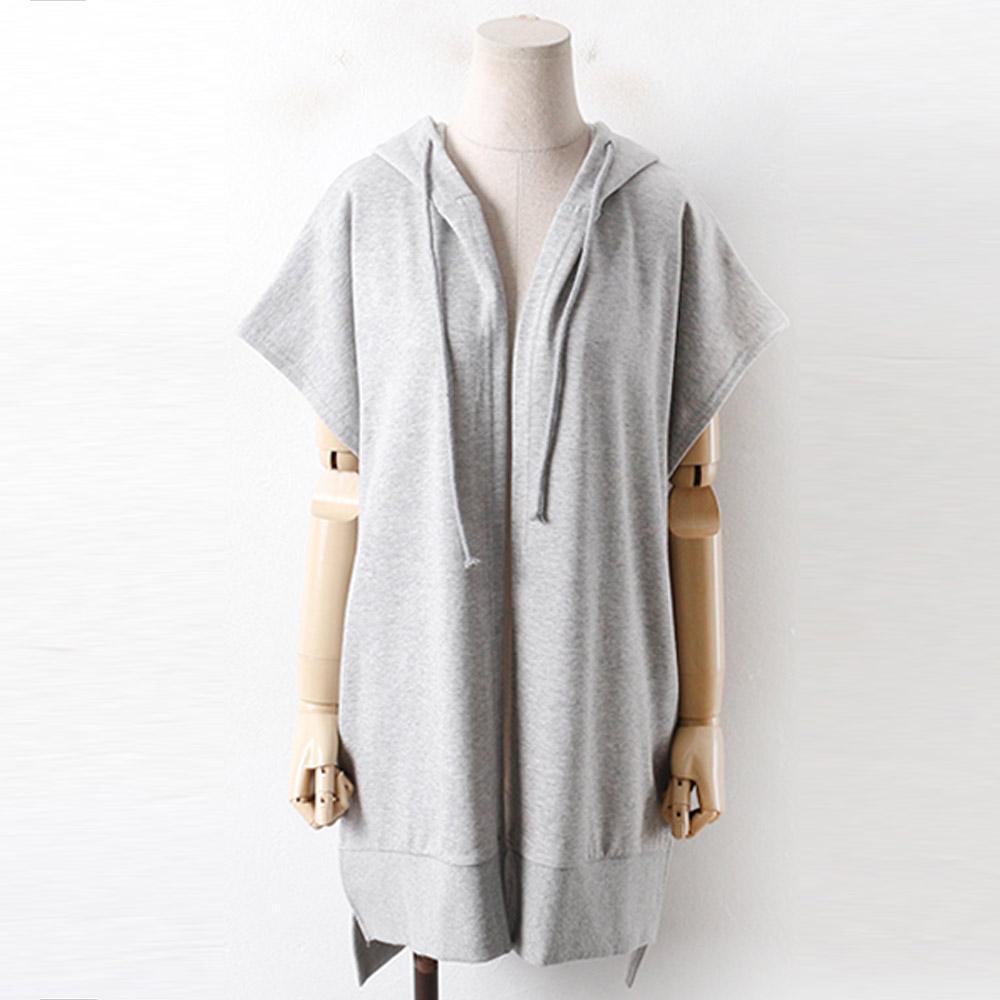 미시옷 1326RL910 후드끈 캐쥬얼 조끼 WW 빅사이즈 여성의류 빅사이즈 여성의류 미시옷 임부복 캐주얼후드베스트-VT