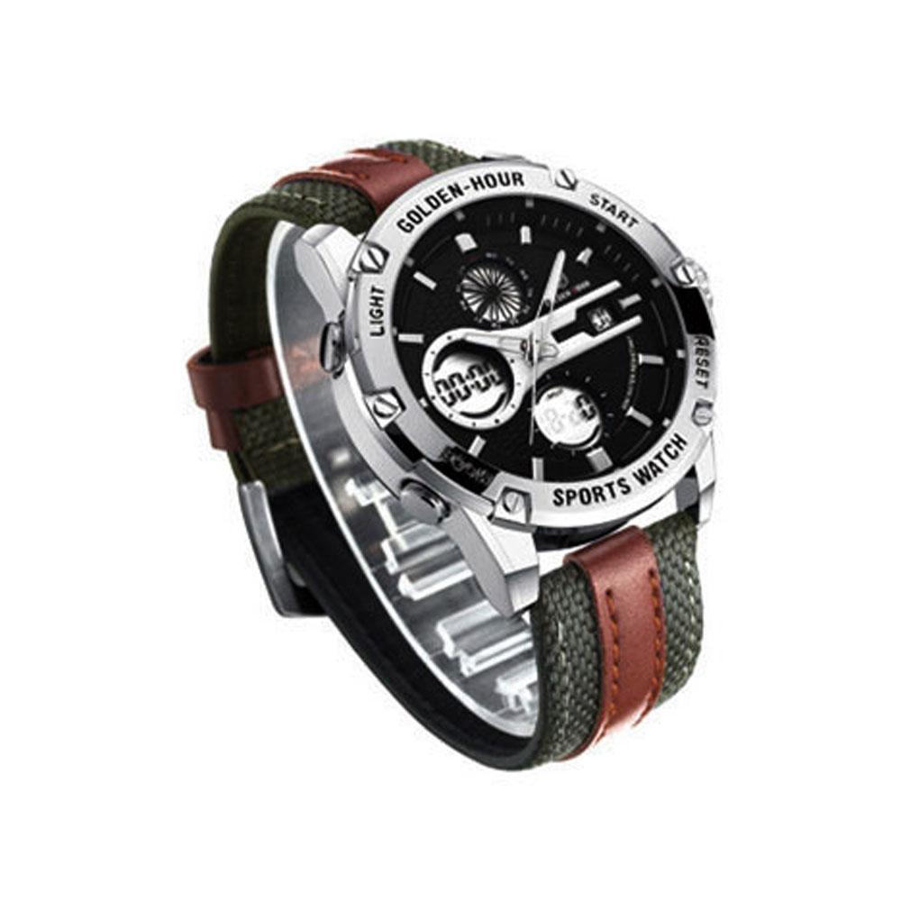실버로얄블루 남자 고급 손목 시계 가죽 30대 선물용 남자시계 남성시계 손목시계 남자가죽시계 남성용시계