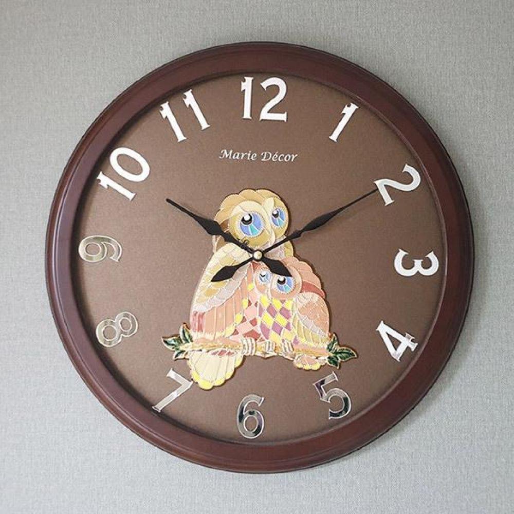 미러넘버 벽시계 (컬러블록 부엉이 골드) 벽시계 벽걸이시계 인테리어벽시계 예쁜벽시계 인테리어소품