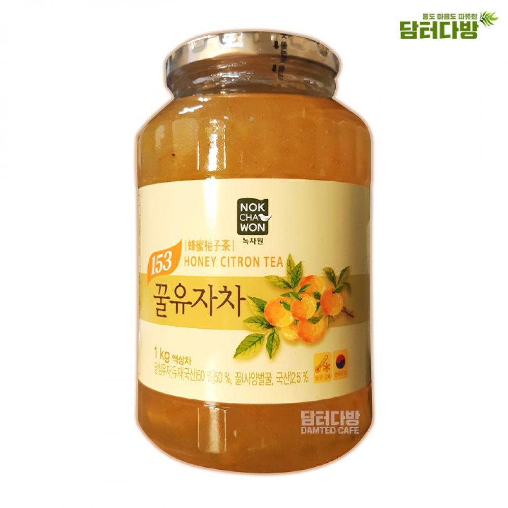 녹차원 꿀유자차 1kg 액상차 녹차원 유자차 꿀유자차 맛있는차 누구나좋아하는 건강한차 따뜻한차 선물용으로좋은