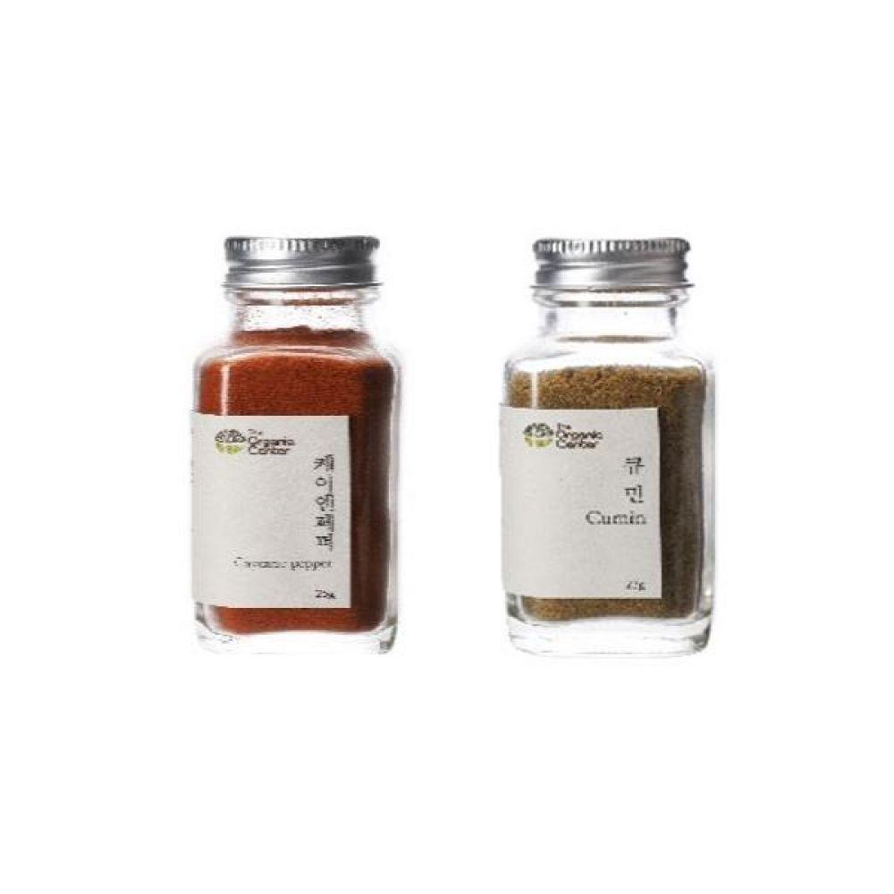 (오가닉 향신료 모음)케이엔페퍼 25g과 큐민 파우더 23g 건강 견과 조미료 냄새 고기