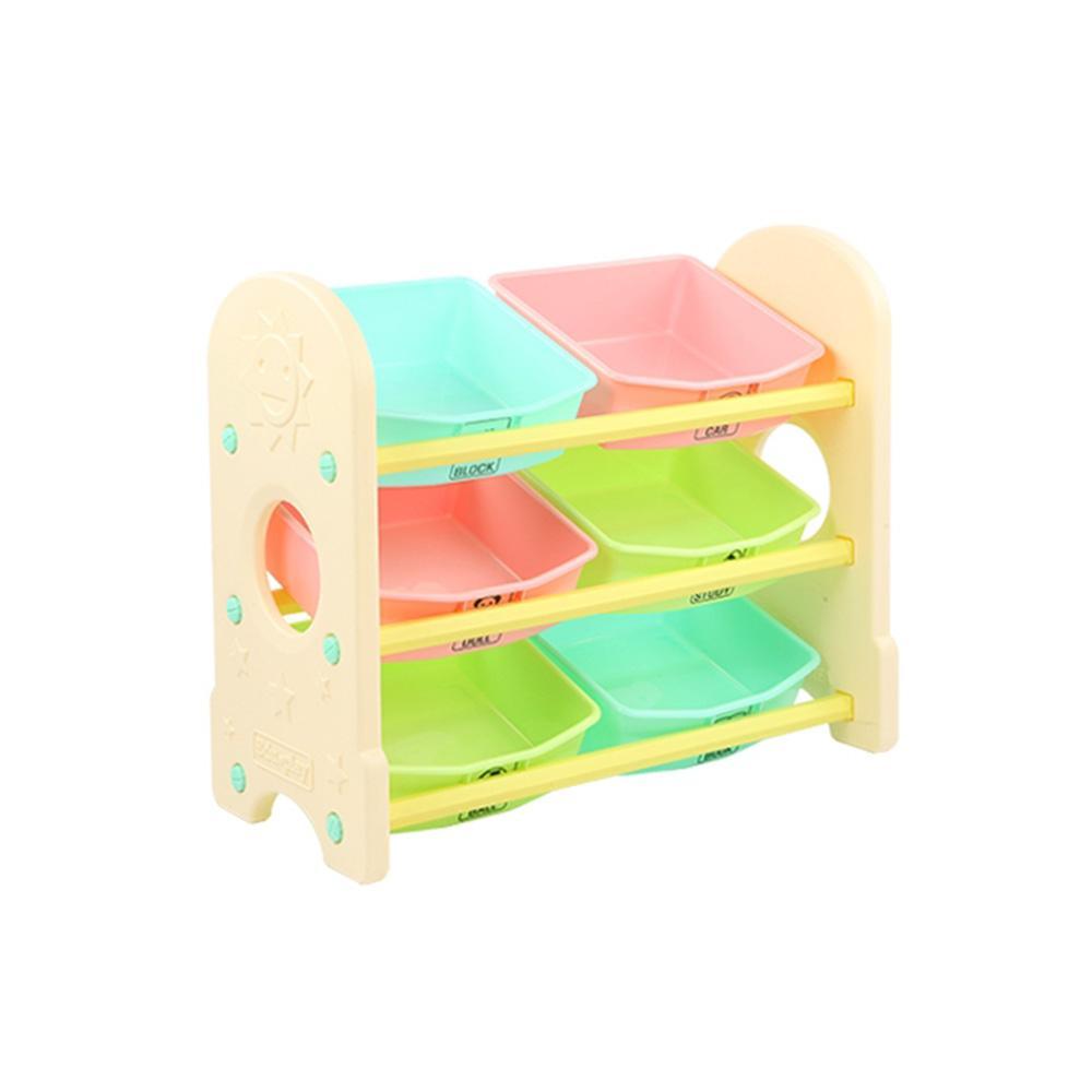 습관 쿠쿠토이즈 펀3단 정리함 수납함 베이지 정리 수납함 정리습관 어린이집 유아원 장난감