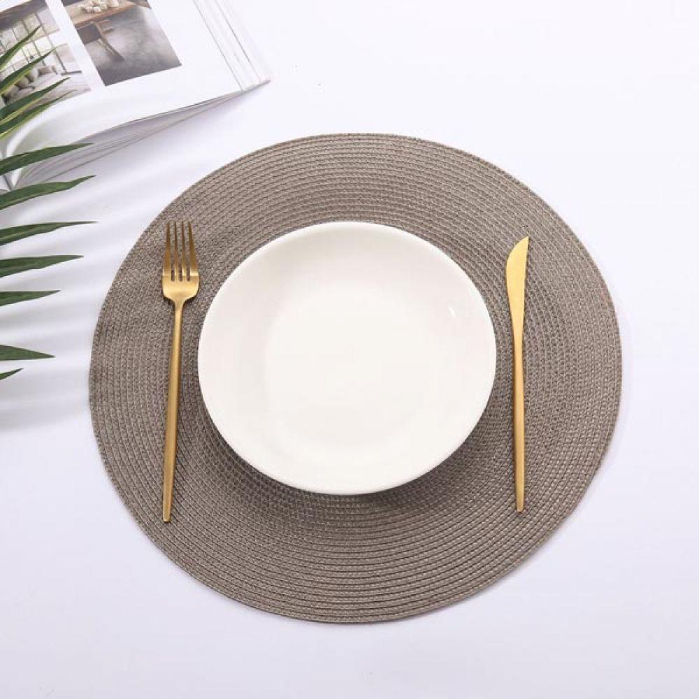 원형 테이블매트 딥그레이 주방용품 테이블보 테이블셋팅 예쁜매트 테이블보 식사테이블 주방용품