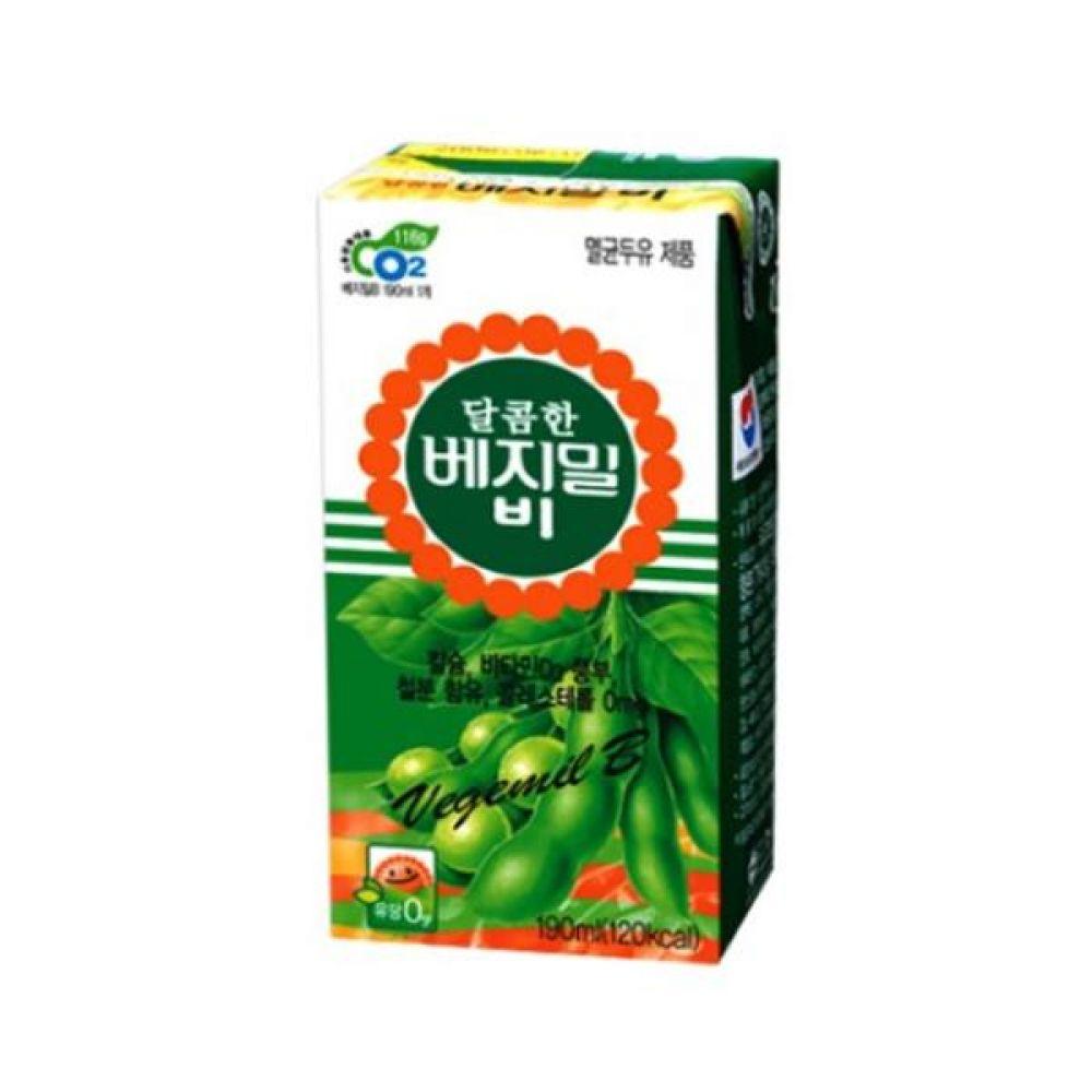 정식품) 베지밀B 190ml x 64팩 음료 음료수도매 음료수 두유 우유